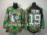 Free shipp. stitched Ice Hockey jersey 2014 NHL Chicago Blackhawks #19 Jonathan Toews  Camo Jersey