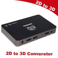 Free shipping New 2D to 3D Converter box support 120Hz DLP 3D ready  Projector for transforming watch 3d tv Movies and games