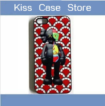 Free shipping Hot selling fashion OriginalFake kaws toy case for iPhone 5g 5s 5 5c 4s 4 cell mobile phone cover accessories(China (Mainland))