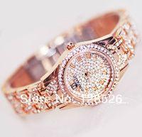 Women Rhinestone Watches 2014 Ladies Dress Watches Full Diamond Crystal Women's Luxury Watches Female Silver Quartz Watches007