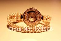 Women Rhinestone Watches 2014  Ladies Dress Watches Diamond Girls Luxury Watches Female Watch Pearl Rose Gold Watches008