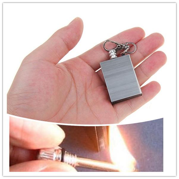 Portable Bottle Shaped Survival Tool Flint Fire Starter Match Lighter Kit Wholesale(China (Mainland))