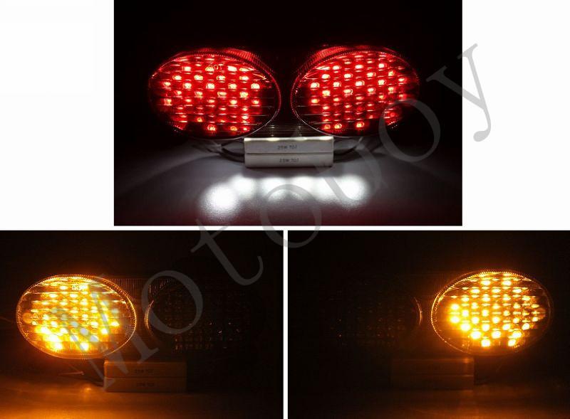 Smoke Integrated LED Tail Light Signals For Kawasaki ZR7S 2000 2001 2002 2003(China (Mainland))