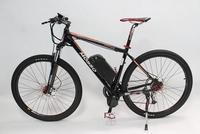 Free shipping!2014 New Off Road 29er Electric Bike 48V 750W 29er Mid-Drive+9-speed+48V 12Ah Li-ion Battery+LCD Display