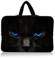 """Cool Blue Cat Eye 15.1""""15.3"""" Neoprene Laptop Sleeve Netbook Pouch Cover Holder Case Bag Protector Handle Waterproof Dustproof"""