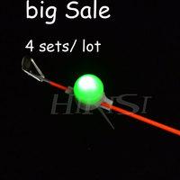 NEW Fishing Rod alert  Electronic Fish Bite Alarm fishing bell With LED light for carp fishing 4sets/lot