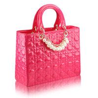 Bags pearl plaid bag red married bag bridal bag women's handbag bag women's handbag