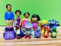 New 12pcs/set  Dora the Explorer figure dora family and her friend toys for children