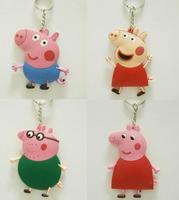 George Peppa Pig Family PVC keychain Daddy Mummy Pig KEY CHAIN