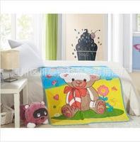 HOT & NEW 2014 High quality super soft single coral fleece Farley flannel children cartoon blanket  8 color  073