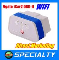 2014 100% Original Vgate WiFi iCar 2 OBDII ELM327 iCar 2 Wifi Vgate OBD Diagnostic Scan Tool For IOS iPhone iPad Android PC