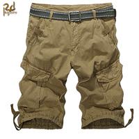 New Arrival Men's Cotton Outdoor Multi-Pockets Shorts Casual Shorts Knee-Length Tooling Shorts Multi Pocket Pants PT-097