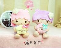 Original Sanrio Little twin stars lover plush dolls 20CM 2pcs/set for girls cute gift