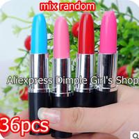 36pc Random Mix Color Office & School Material Supplies Kawaii Stationery Store Lipstick Ballpoint caneta Pen Ball Point ballpen