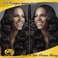 Beauty long wavy hair Wigs for Black Women Brazilian Virgin Human Hair Lace Front Wigs/Full Lace Wigs top quality Free Shipping