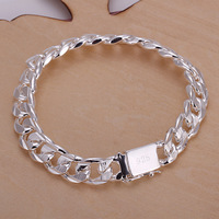 Wholesale H032 Hot 925 Sterling Silver 12mm Cool Man Bracelet Chain,Beautiful Jewelry Bracelet For Party Gift