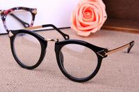 Free shipping! 2014 Most popular glasses Men/Women big frame glasses Fashion Eye Glasses eyewear with lens