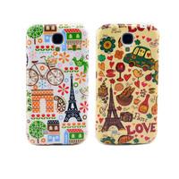 High Quality Cartoon Cute Paris Eiffel Tower Soft TPU Case Back Gel-Silicon Cover For Samsung Galaxy S4 I9500