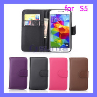 For Samsung Galaxy S5 Flip Cover Leather Wallet Case for Samsung i9600