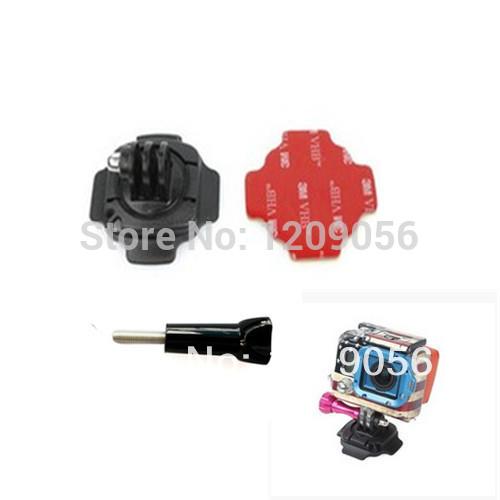 3PCS Gopro Accessories 1Pcs 360 Degree Turn Lock Helmet Mount Adapter+1Pcs 3M Sticker+1Pcs Screw For Gopro Hero 3 Heros Camera(China (Mainland))