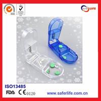 Wholesale Freeshipping ----protable Convenient cutter pill box pill case with cutter pill box cutter