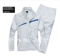 spring 2014 brand  tracksuit  WHITE COLOR Lightweight breathable sport suit men sweat suit  free shipping