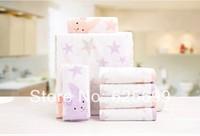 Free Shopping Star Rabbit Children's soft skin-friendly fiber towel Beauty Pure 100% cotton towel boy 50*25CM 2pcs/lot