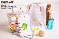 Free Shopping Children's World Children's soft skin-friendly fiber towel Beauty Pure 100% cotton towel boy 50*25CM 2pcs/lot