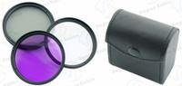 52mm Polarized PL+UV+FLD CAMERA FILTER Kit bag  for Nikon D3100 D3200 D5000 D5100 D7000 D40 D60 with 18-55mm Lens