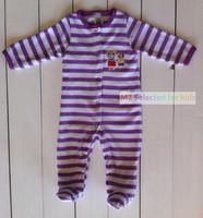 1PCS, Carters Baby Bodysuit Terry Towel, Carters boys girls sleepwear,Infant Clothing,Girls Boys Long Sleeve Footies, Kids Wear