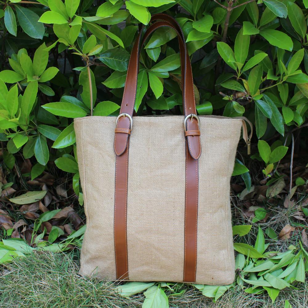 fashion woman man jute handbag tote bag shopping bag shoulder bag casual bag(China (Mainland))