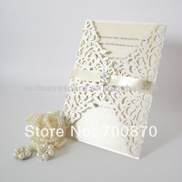 New Arrival: IC1202-08 Red Leaves  Lace Laser cut  Wedding Invitation Card for Wedding