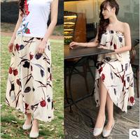 Free Shipping 2014 Bohemian Chiffon Women's Long Skirts