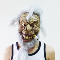 Free shipping Terror Halloween mask party mask white hair mask