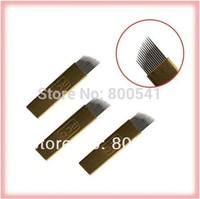 #12 permanent makekup blade Manual pen needle Munsu pen embroidery pen handtool 200pcs/lot