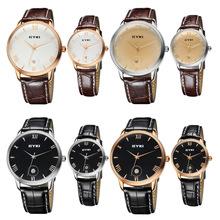 Fashion Classic Lover's Quartz Watch Calendar Leather Watchband Men Women Dress Watches Wristwaches EYKI EET8731(China (Mainland))