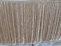 Free shipping 15cm long rayon chainette fringe, beige/tan, 10meters/lot, free DHL shipping 2lots+