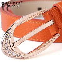 Diamond strap Women women's genuine leather belt female women's strap female fashion all-match cowhide