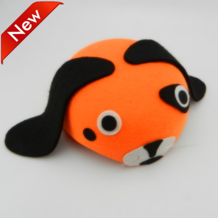 lovely orange dog hat animal cartoon cap family parent-child non-woven mardi gras costume fancy dress prom free shipping 20pcs(China (Mainland))