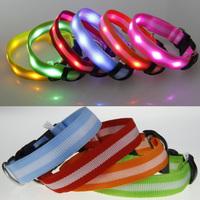 High quality 2.5cm lights with stripe led lights dog collar led strip collar pet light beads collar