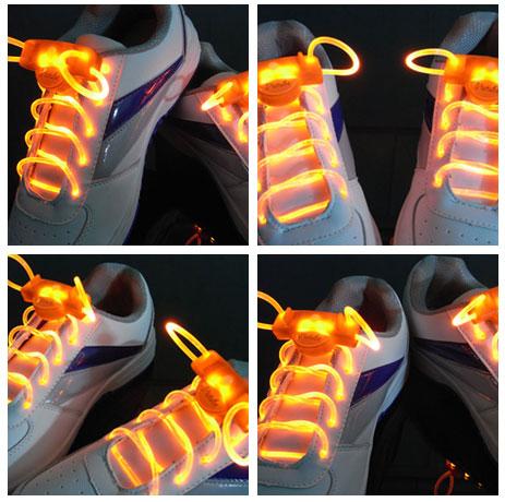 High quality New arrival 2013 higher bright led shoelace flash shoelace luminous shoelace neon shoelaces christmas(China (Mainland))