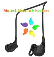 Free shipping Bluetooth earphone headphone dragged two Neckband Sports Music stereo headset Wireless headset A032