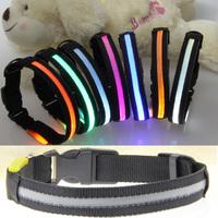 2.0cm screen black led collar led flash dog pet collar collars noctovision 8 necklace