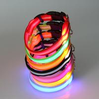 2.0cm width double faced fiber optic luminous dog collar pet collars collapsibility dog pet collar