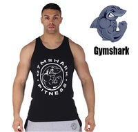 Summer 2014 new gymshark tank top men gym fitness mens sleeveless shirts singlet sport classic Bodybuilding fashion hoodies