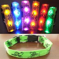 High quality With lights light beads pet collar dog collar pet supplies dog ring dog bright