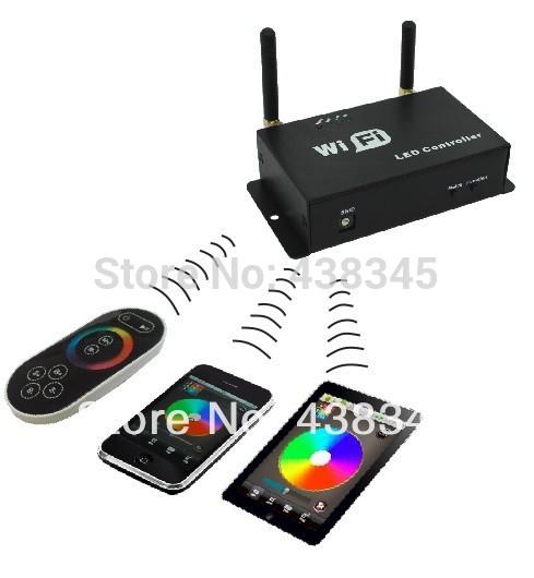New 2014 LED WiFi Controller Rgb Led Wifi Pixel Module Controller Spi Wifi Node Module Garlands WS 2801 WS 2811 Controller WF300(China (Mainland))