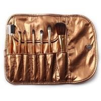 Free gifts 7 Pcs Professional Portable Makeup Brushes Make Up Make-up Brush Cosmetic Set Kit Tools Eye Shadow Kabuki Blush Brush