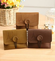 Hot Wholesale ladies Canvas Card bag case Credit  wallet credit Holder women flag print ID card purse Business Free shipping