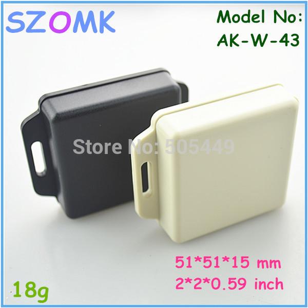 50 pieces a lot electric box plastic 51*51*15 mm 2*2*0.59 inch szomk control enclosure plastic pcb enclosures(China (Mainland))